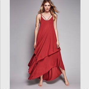 Free People Beach layered maxi dress